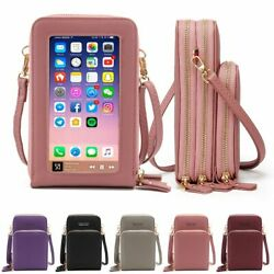 Crossbody Women Phone Purse Touch Screen Bag RFID Blocking Wallet Shoulder Strap $7.97