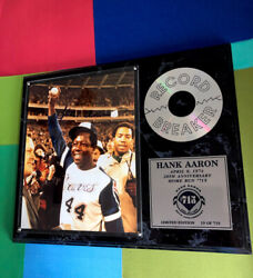 Hank Aaron 12x15 Signed/certified 20th Anniversary Display 19/715 - Beauty
