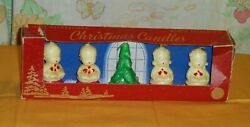 Vintage Christmas Candle Gurley Choir Group Candles Carolers In Original Box