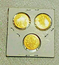 1999 Philharmonic .9999 1/10 Oz Gold Coins Lot Of 3 Bu Gems Invest...