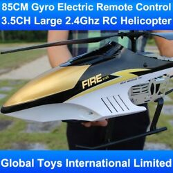 Electric Rc Helicopter 3.5ch Metal Frame Gyro With Led Lights 2.4ghz Radio Kit