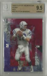 1998 Peyton Manning Playoff Momentum Red Rc... Graded Bgs 9.5 Gem Mint