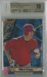 2011 Mike Trout Bowman's Best Prospects Rc... Graded Bgs 10 Pristine