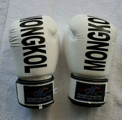 Mongkol 85 Collection Muay Thia Kick Boxing Gloves 16oz In Excellent Condition