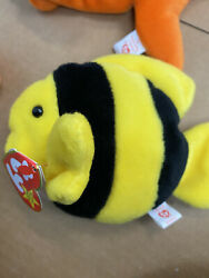 Unbelievable Rare Bubbles Ty Beanie Babies Pvc Fin And Tush Tag Major Errors