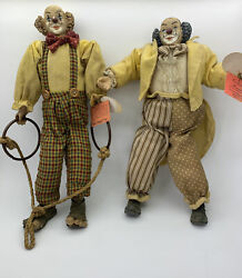 Tilt-a-whirl Show Stoppers Collectible Porcelain Clowns