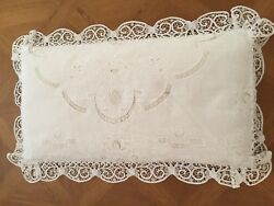 Pair Of Fino Lino Madeline Lace King Pillow Shams
