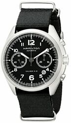 Hamilton Menand039s H76456435 Khaki Aviation Stainless Steel Automatic Watch With Bla