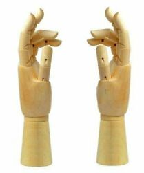 Illustration / Drawing On Wooden Hand Mannequin 24cm, Both Hands From Impo