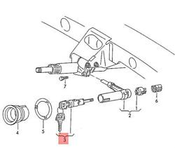 Genuine Lock Cylinder For Ignition Starter Switch Without Key 107905855c