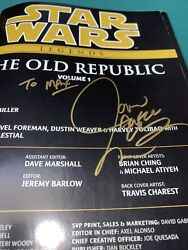 Star Wars The Old Republic Epic Collection Signed By Author Read Description