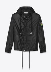 Saint Laurent Windbreaker With Sl Patch With Tags Retail 1790