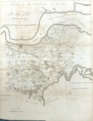 Kent 1797, Gravesend And Hundreds Of Toltingtrough And Shamel, Antique Map - Hasted.