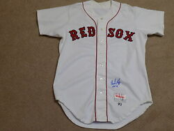 Wade Boggs Signed Game Jersey 1990 Boston Red Sox Hof