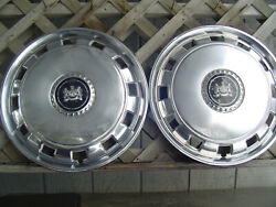 Two 75 87 Mercury Hubcaps Grand Marquis Colony Park Wheel Covers Antique Vintage