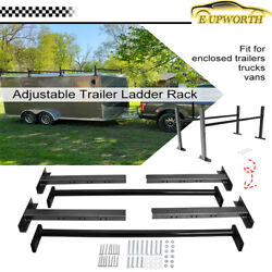 Adjustable Roof Ladder Racks For 4and039-7and039 Wide Enclosed Trailers Cargo Trucks