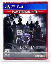 Resident Evil 6 Playstation Hits PS4 Brand New Factory Sealed