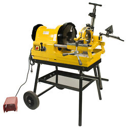 Steel Dragon Tools® 6790 1/2 - 4 Pipe Threader Threading Machine With Cart