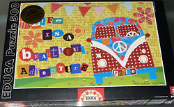 New Sealed Educa Life Is A Beautiful Adventure 500 Piece Jigsaw Puzzle Vw Peace