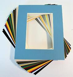 Pack Of 20 Mixed Colors 11x14 Picture Mats Matting With White Core Bevel Cut For