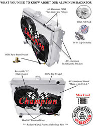 4 Row Wr Radiator W/ Shroud And Fans For 1970-1971 Dodge Challenger V8 Big Block