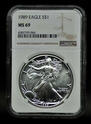 1989 Ngc Ms69 Silver Eagle [021dud]