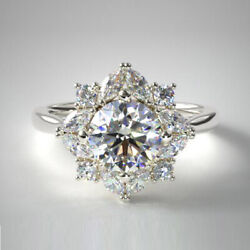 1.02 Ct Real Diamond Wedding Ring Solid 950 Platinum Ring For Her Size 5 6 7 8 9