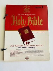 Holy Bible Vintage 1959 King James Edition Illustrated Family Worship