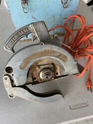 Vintage Aluminum Porter Cable 88c K88c Speedmatic Circular Saw And Case Tested
