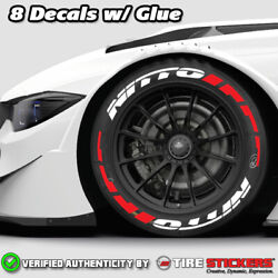 Tire Lettering - Nitto W/ Frost Flares - 1.50 For 192021 8 Stickers -white