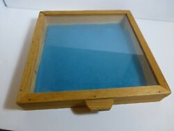 Handmade Display Case. Wood And Glass.12x12x2 For Jewelry,antiques,collectables