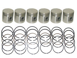 6 Pistons And Rings 1958-1965 Amc Rambler American 195.6 L-head 6-cylinder