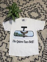 Vintage Taco Bell 1998 Dog Tshirt Made In Usa Size M Rare All Over Print