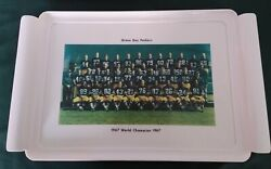 Vintage Green Bay Packers Waverly Serving Tray Super Bowl Ii Champions 1967 Rare