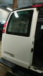 13 14 Chevy Express 1500 Driver Rear Back Door W/window Stationary Glass Opt A12