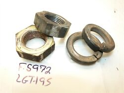 Jacobsen Hd-195 Ford Lgt-195 Tractor Transaxle Axle Nuts And Lock Washers