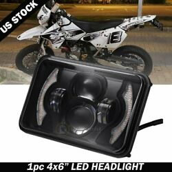 4x6and039and039 Led Sealed Halo Headlight Lamp For Motorcycle Xr250 Xr400 Xr650 Suzuki Drz