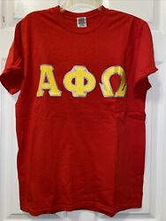 Alpha Phi Omega Fraternity Letter Shirts M 2 Embroidered And 1 Screen Printed