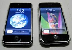 Apple Iphone 2g / 8gb And 16gb 1st Generation Silver Lot Of 2 Pcs