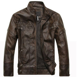 2021 Motorcycle Leather Jacket Menand039s Menand039s Leather Jacket Coat Top Hot