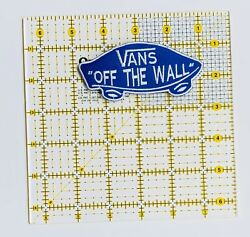 Vans Iron On Patch Off The Wall Blue And White Classic Skate Boards Skating