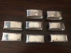 Webster Sterling Eight Napkin Rings No Mono 2 1/4 X 1 1/4