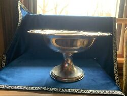 International Sterling Silver 925.weighted Reinforced Footed Pedestal Compote