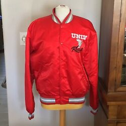 Nwot Unlv Rebels Satin Jacket Xl With Spell Out And Rebel Logo By Starter