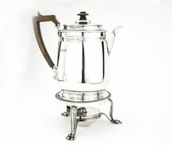 Antique Sterling Silver Kettle On Stand And Burner