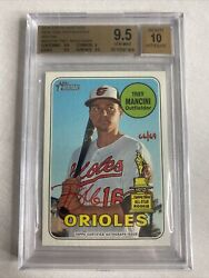 2018 Topps Heritage Trey Mancini One Autographs Red Ink 66/69 Bgs 9.5 / 10 Auto