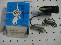 Ford 8 Cyl Tune Up Kit Points Condenser Rotor 1957-74 Mustang T-bird Falcon F100