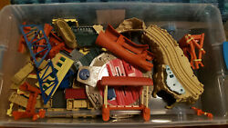 Large Lot Of Plastic Thomas And Friends Trains And 100+ Tracks