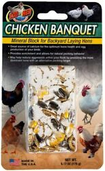 3 Pack Zoo Med Chicken Banquet Mineral Block For Backyard Laying Hens 6.17-oz