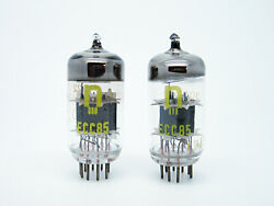 2 X Nos Rft Ecc85 - 6aq8 Test Strong + Matched And Balanced Military Grade Tubes